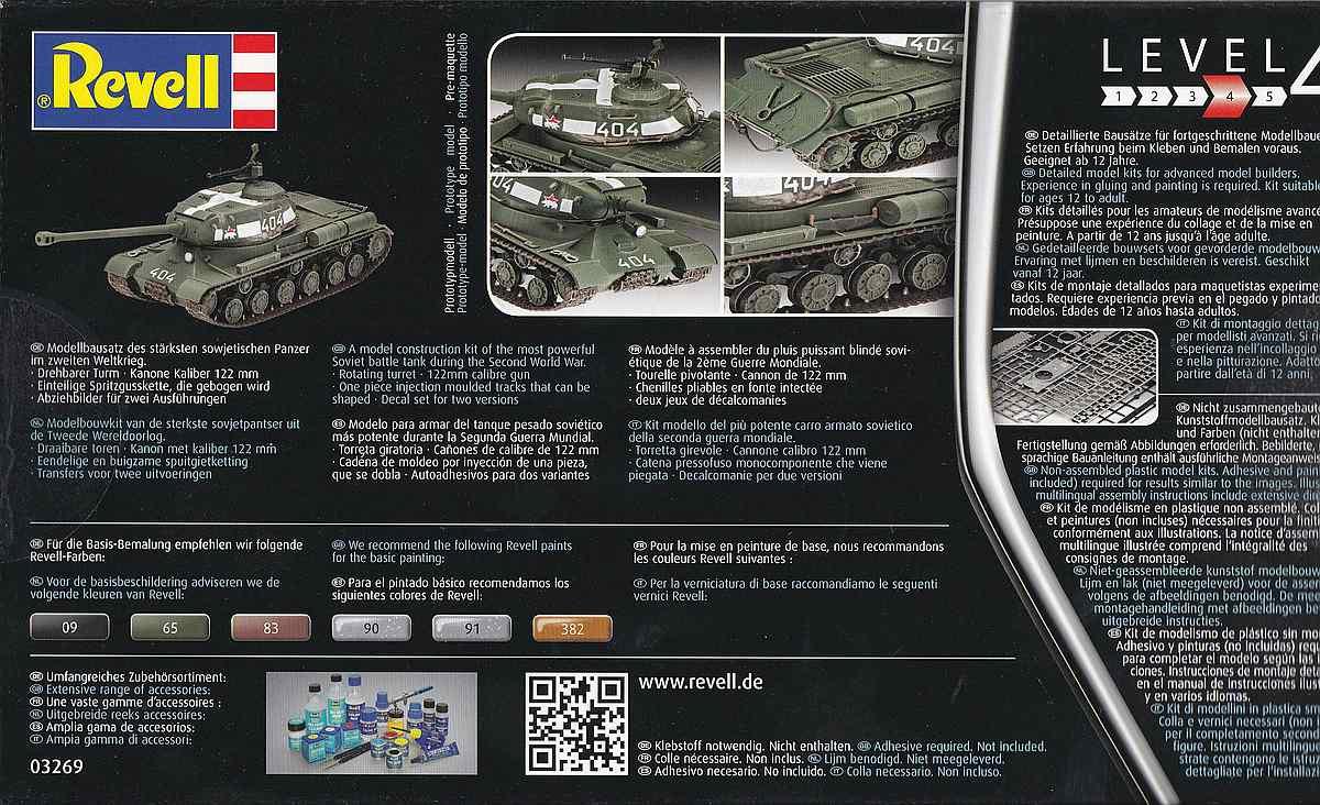 Revell-03269-Soviet-Heavy-Tank-IS-2-3 Soviet Heavy Tank IS-2 im Maßstab 1:72 von Revell 03269