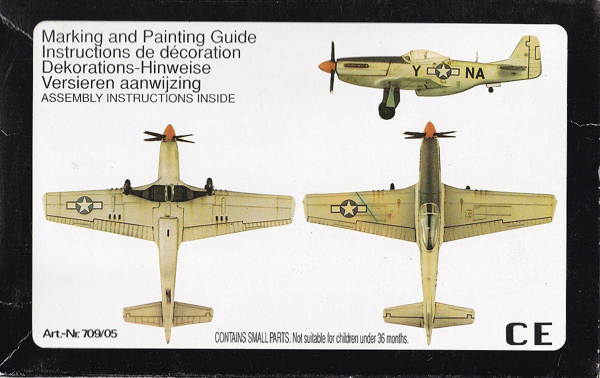 Starfix-709-05-P-51D-Mustang-2 Kit-Archäologie - heute: P-51D Mustang im Maßstab 1:72 von StarFix (# 709/05)