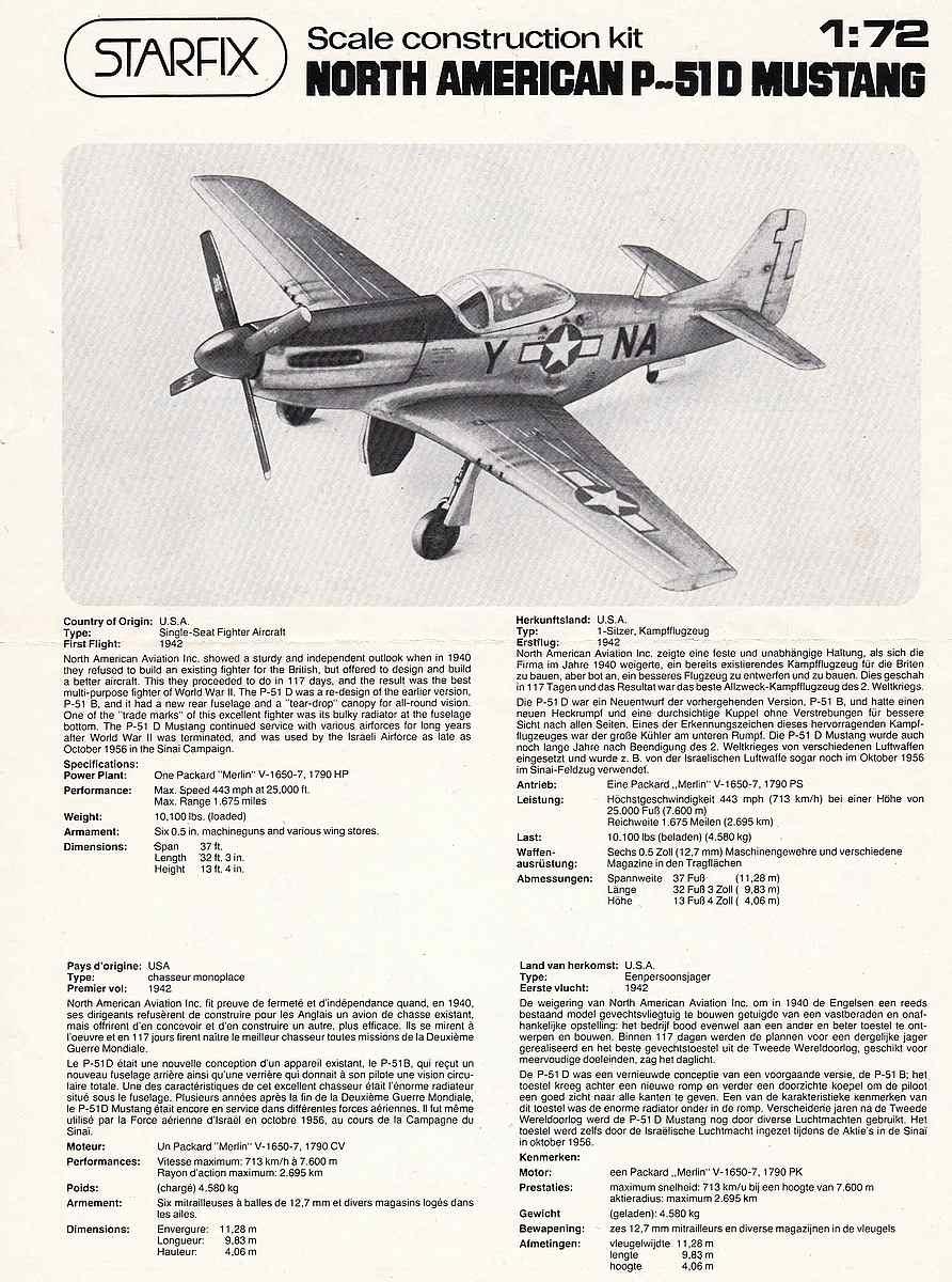Starfix-709-05-P-51D-Mustang-3 Kit-Archäologie - heute: P-51D Mustang im Maßstab 1:72 von StarFix (# 709/05)