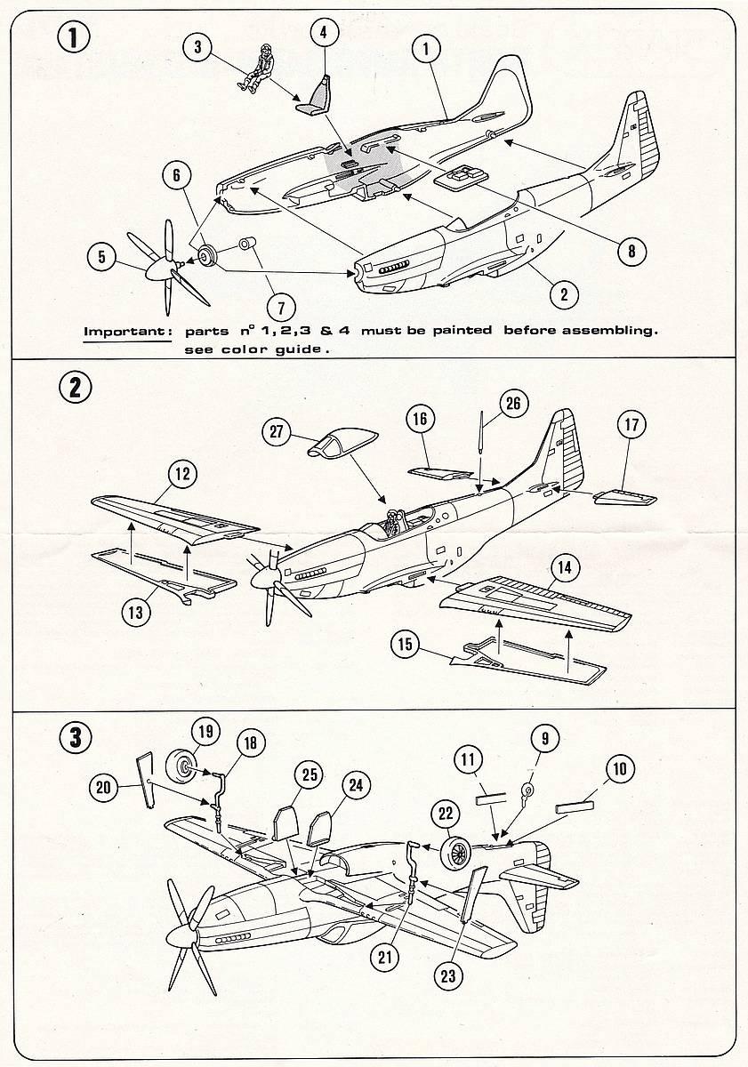 Starfix-709-05-P-51D-Mustang-4 Kit-Archäologie - heute: P-51D Mustang im Maßstab 1:72 von StarFix (# 709/05)