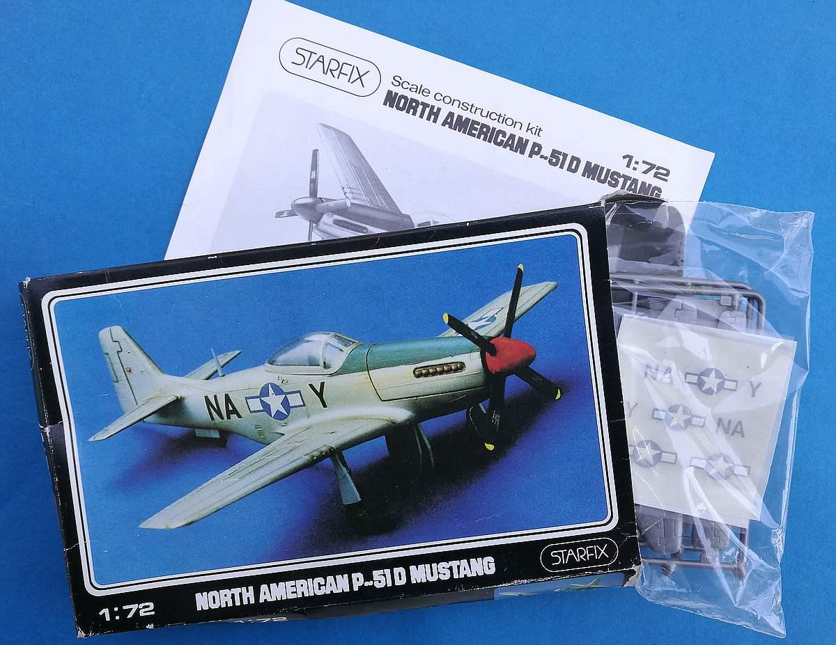 Starfix-709-05-P-51D-Mustang-5 Kit-Archäologie - heute: P-51D Mustang im Maßstab 1:72 von StarFix (# 709/05)