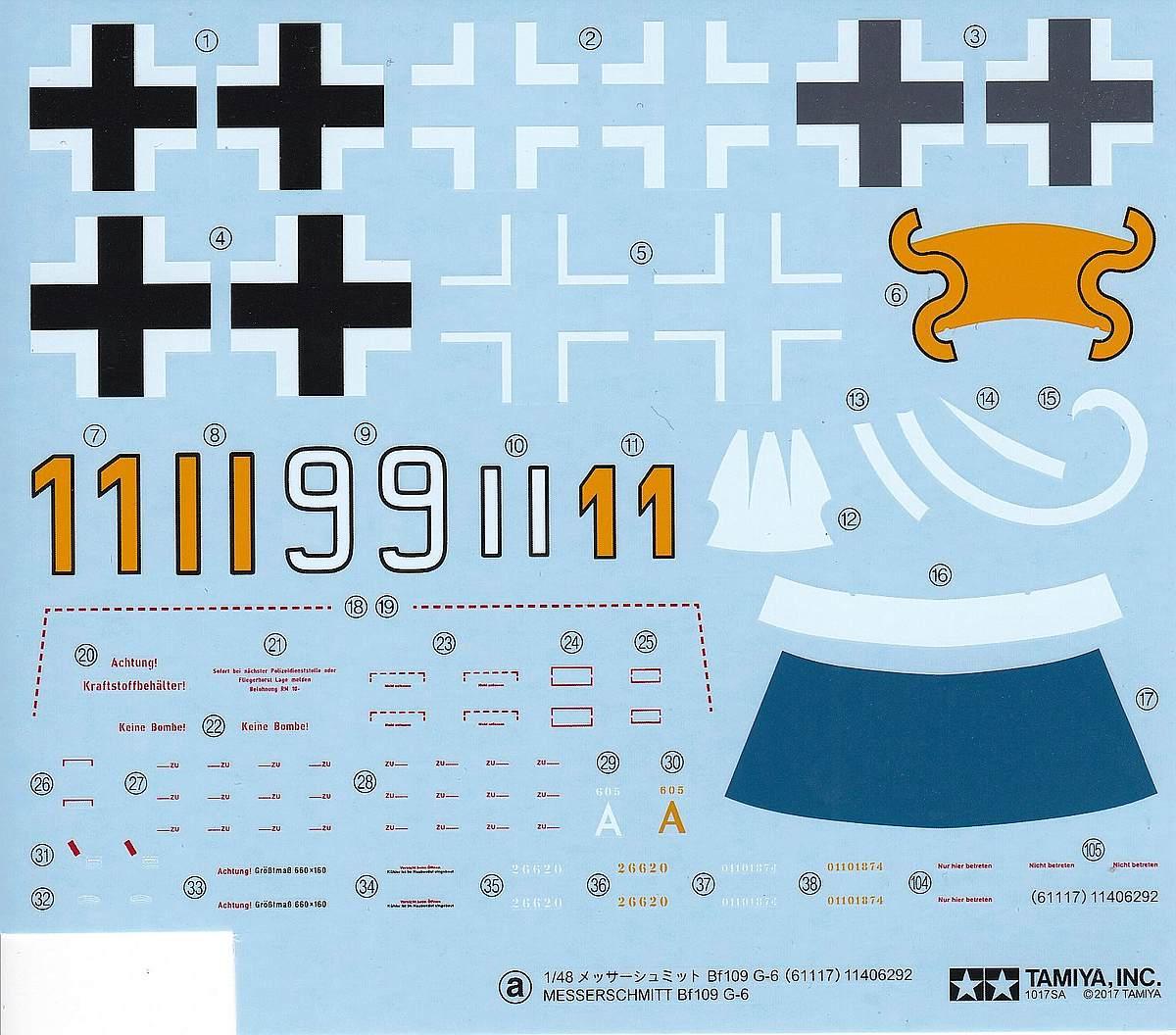 Tamiya-117-Messerschmitt-Bf-109-G6-23 Messerschmitt Bf 109 G6 im Maßstab 1:48 von Tamiya 61117
