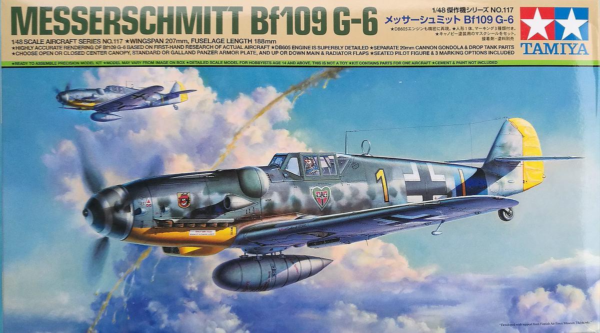Tamiya-117-Messerschmitt-Bf-109-G6-27 Messerschmitt Bf 109 G6 im Maßstab 1:48 von Tamiya 61117