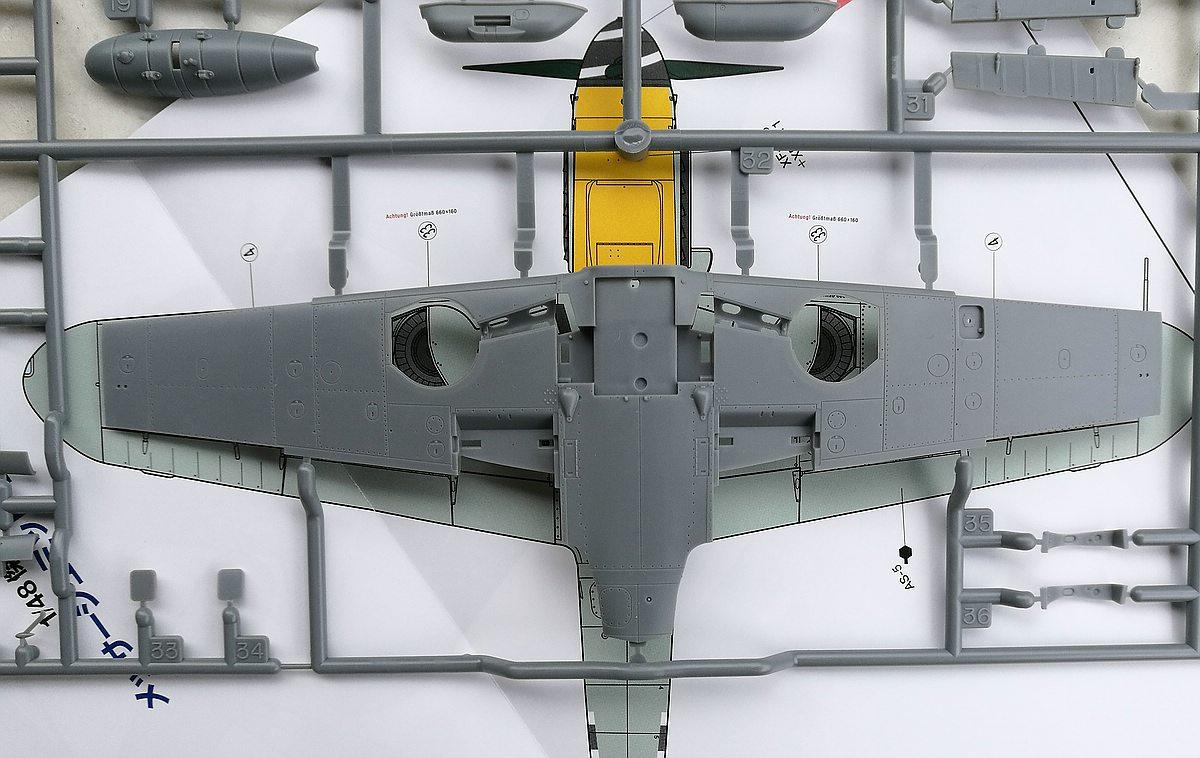 Tamiya-117-Messerschmitt-Bf-109-G6-78 Messerschmitt Bf 109 G6 im Maßstab 1:48 von Tamiya 61117
