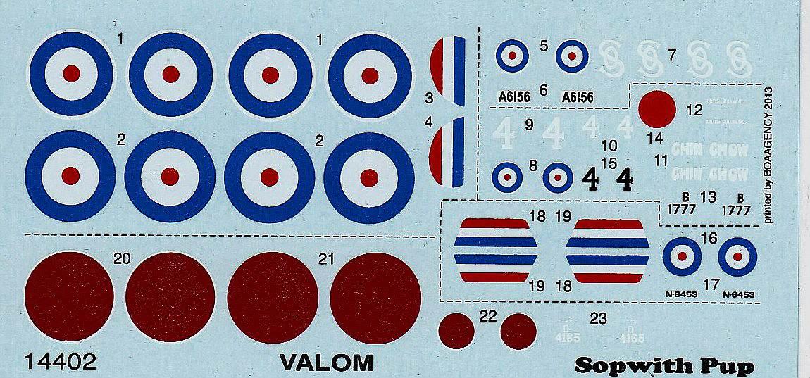 VALOM-14402-Sopwith-Pup-4 Sopwith Pup im Maßstab 1:144 von Valom 14402