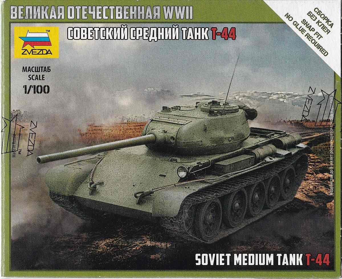 Zvezda-6238-Soviet-Medium-Tank-T-44-1 Soviet Medium Tank T-44 im Maßstab 1:100 Art of Tactic von Zvezda 6238