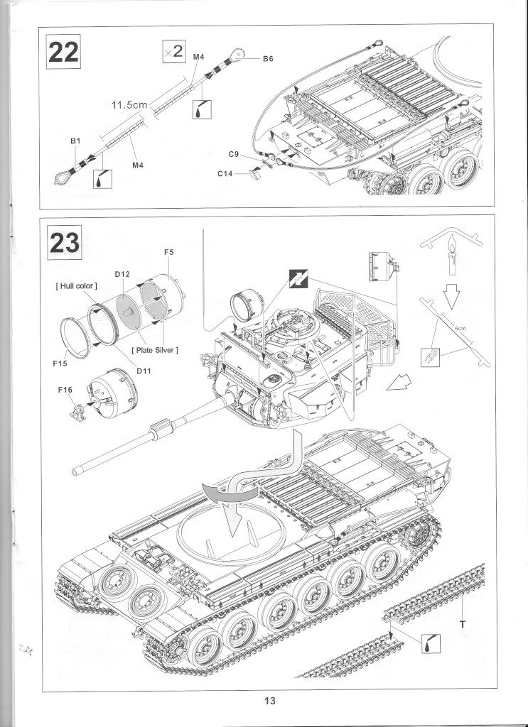 13-1-743x1024 Centurion Mk 5/1 Royal Australian Armoured Corps (Vietnam Version) 1:35 AFV Club (AF35100)
