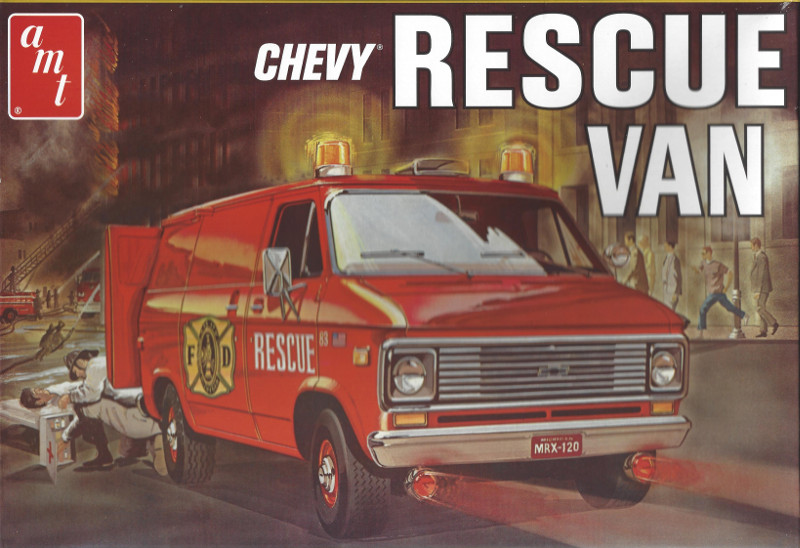 Box Chevy Rescue Van 1:25 AMT (#812)