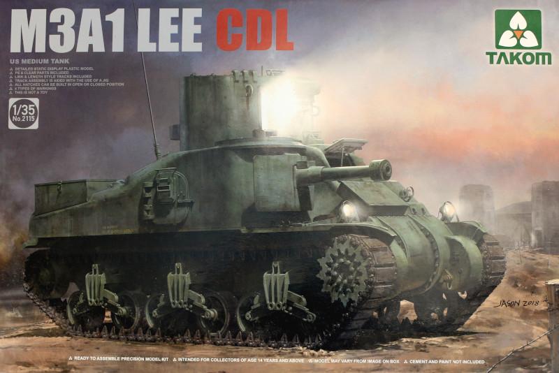 Boxart-1 M3A1 LEE CDL 1:35 Takom (#2115)