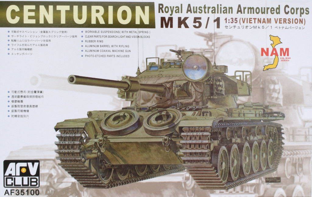 Boxart Centurion Mk 5/1 Royal Australian Armoured Corps (Vietnam Version) 1:35 AFV Club (AF35100)