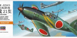 Mitsubishi J2M3 Raiden im Maßstab 1:72 von Hasegawa 00135