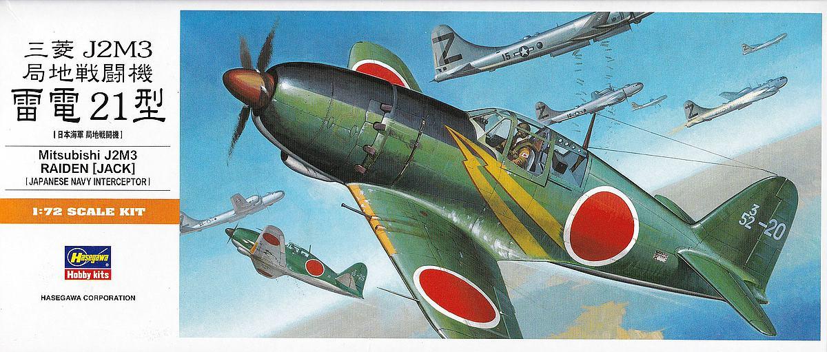 Hasegawa-00135-Mitsubishi-J2M3-Raiden-1zu72-1 Mitsubishi J2M3 Raiden im Maßstab 1:72 von Hasegawa 00135