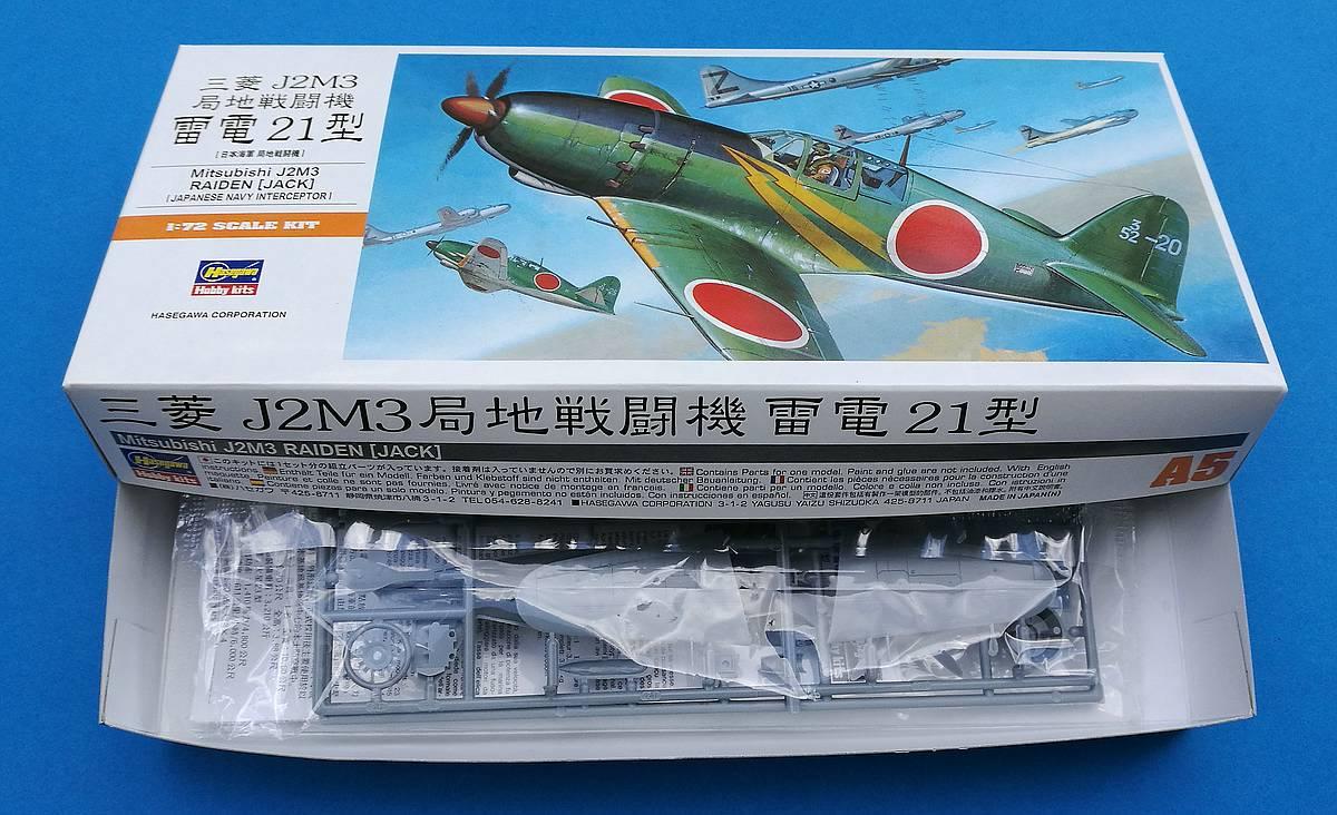Hasegawa-00135-Mitsubishi-J2M3-Raiden-1zu72-10 Mitsubishi J2M3 Raiden im Maßstab 1:72 von Hasegawa 00135