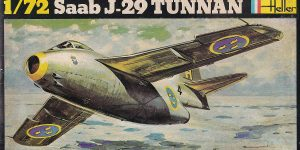 Kit-Archäologie; heute: Saab J29 Tunnan im Maßstab 1:72 von Heller