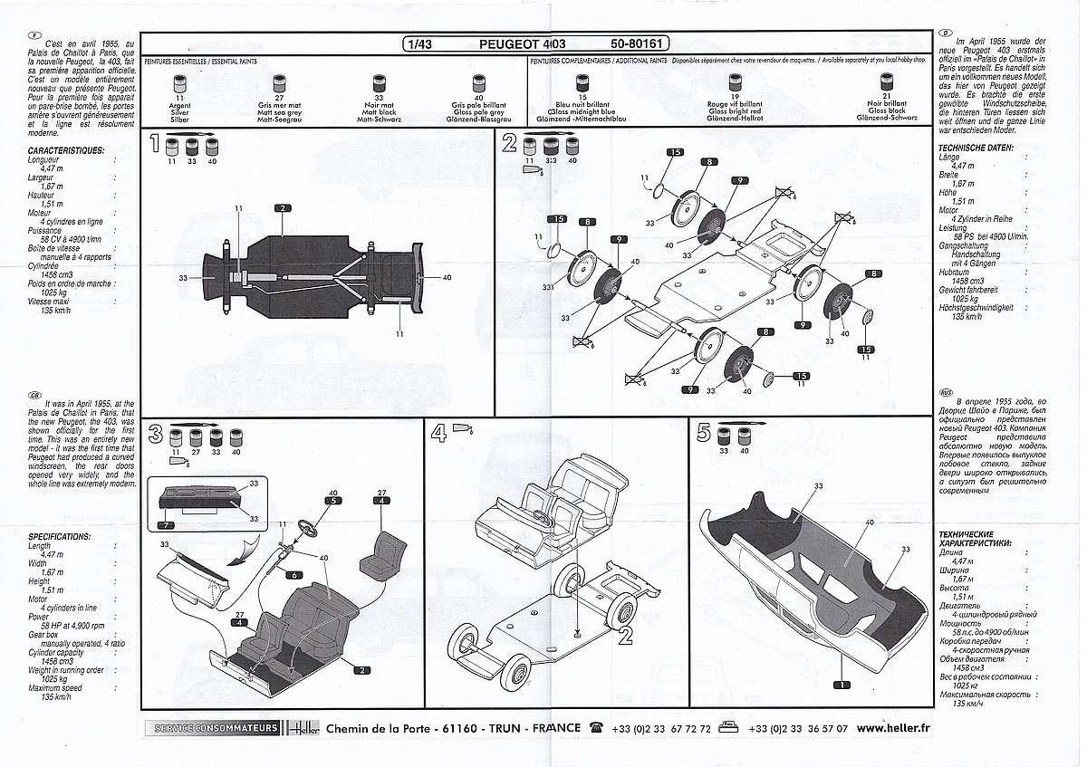 Heller-80161-Peugeot-403-2 Peugeot 403 im Maßstab 1:43 von Heller 80161