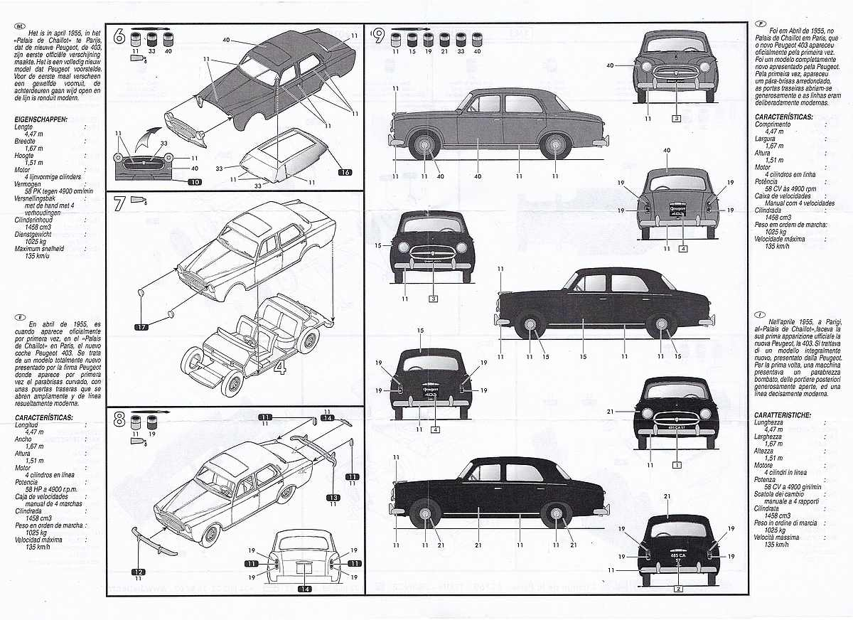 Heller-80161-Peugeot-403-3 Peugeot 403 im Maßstab 1:43 von Heller 80161
