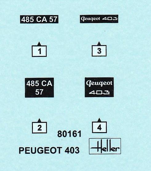 Heller-80161-Peugeot-403-4 Peugeot 403 im Maßstab 1:43 von Heller 80161