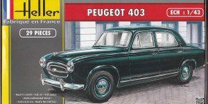 Peugeot 403 im Maßstab 1:43 von Heller 80161