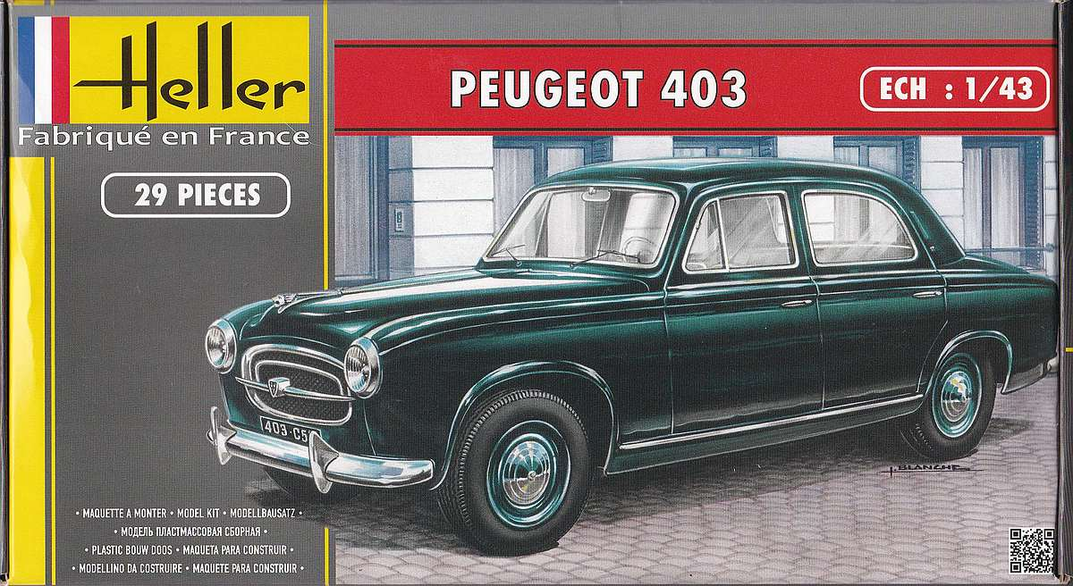 Heller-80161-Peugeot-403-5 Peugeot 403 im Maßstab 1:43 von Heller 80161