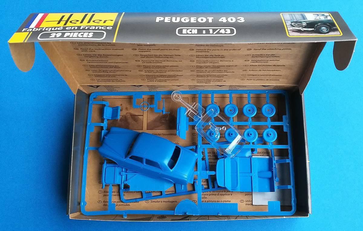 Heller-80161-Peugeot-403-7 Peugeot 403 im Maßstab 1:43 von Heller 80161