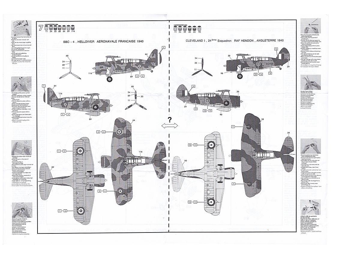 Heller-80285-Curtiss-SBC-4-Helldiver-10 Kit-Archäologie: Curtiss SBC-4 Helldiver im Maßstab 1:72 von Heller 80285