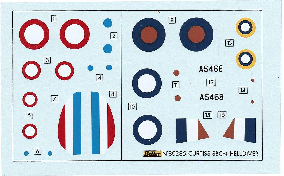 Heller-80285-Curtiss-SBC-4-Helldiver-7 Kit-Archäologie: Curtiss SBC-4 Helldiver im Maßstab 1:72 von Heller 80285