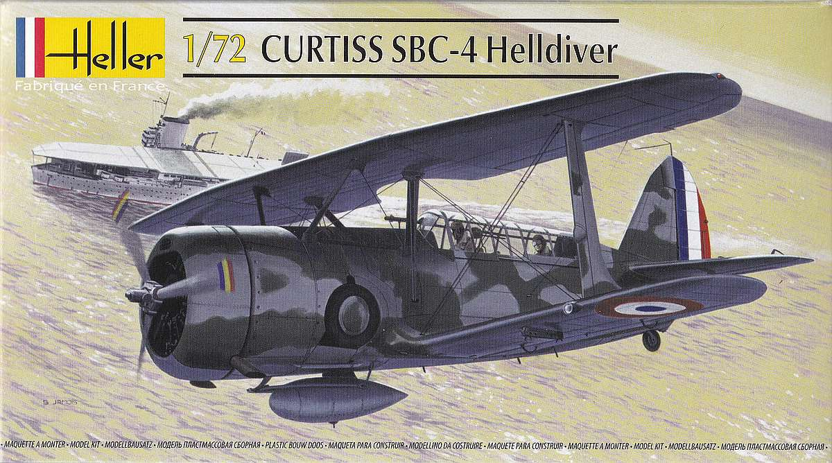 Heller-80285-Curtiss-SBC-4-Helldiver-8 Kit-Archäologie: Curtiss SBC-4 Helldiver im Maßstab 1:72 von Heller 80285