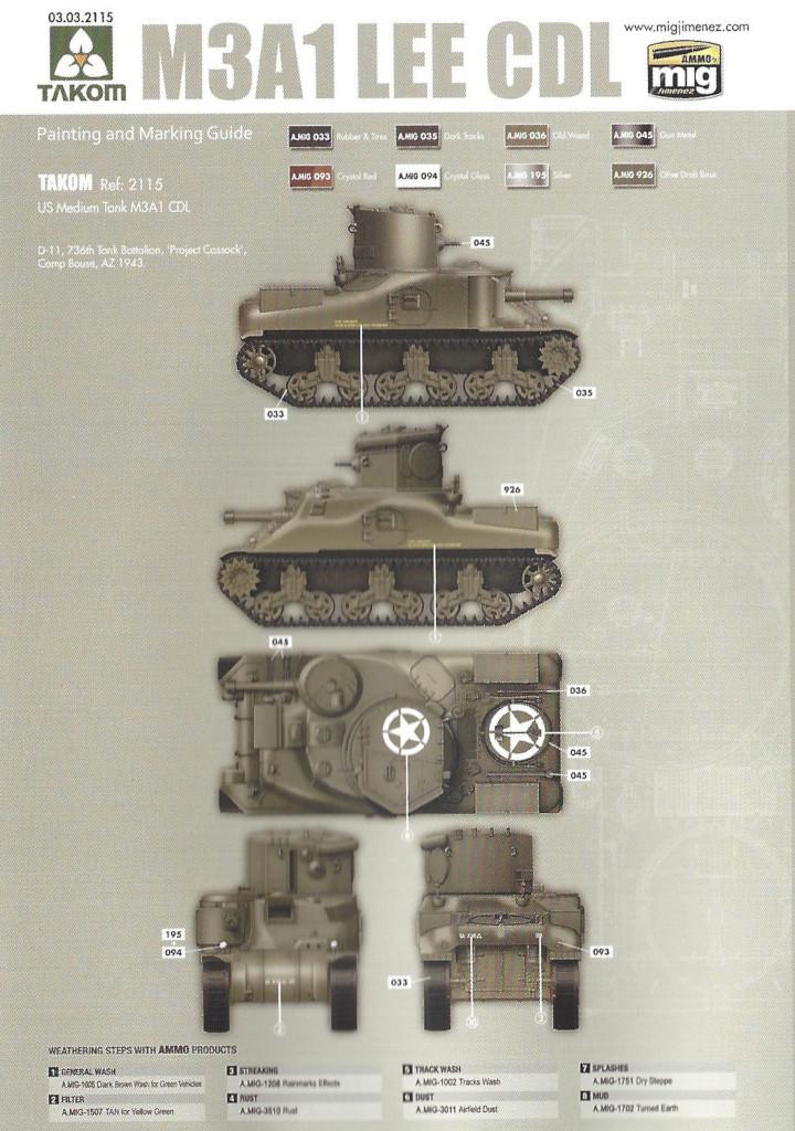 M1 M3A1 LEE CDL 1:35 Takom (#2115)