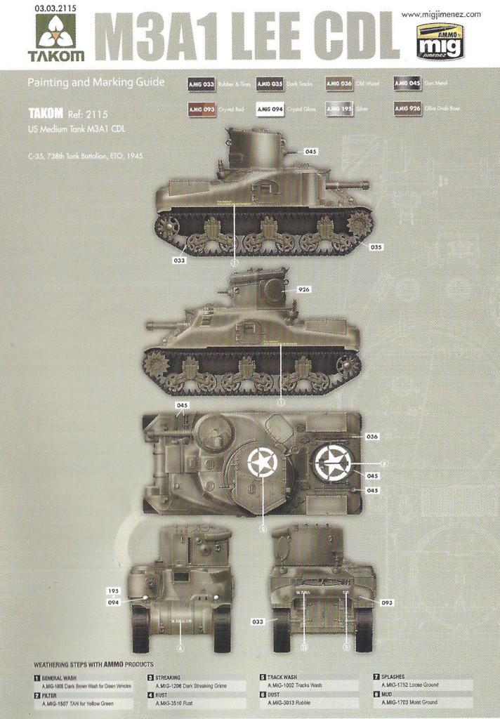 M2 M3A1 LEE CDL 1:35 Takom (#2115)