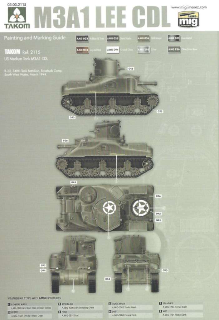 M3 M3A1 LEE CDL 1:35 Takom (#2115)