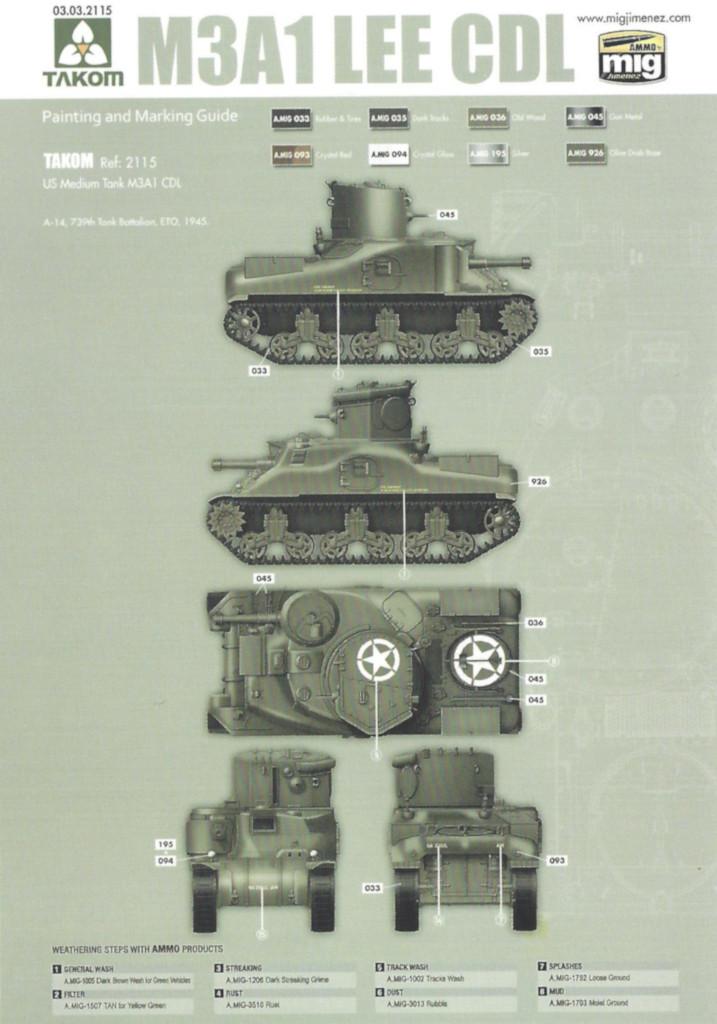 M4 M3A1 LEE CDL 1:35 Takom (#2115)