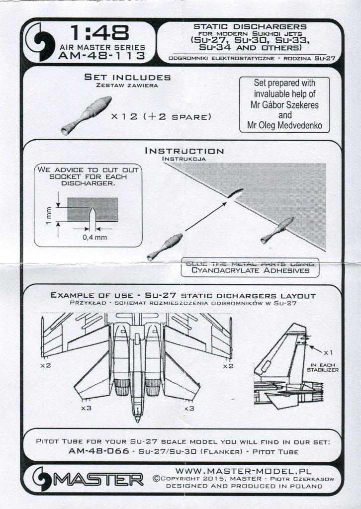Master_Static_Dischargers_03 Feines Messing für die Su-27-Familie - Master Model 1/48