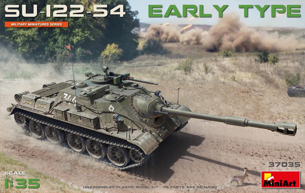 MiniArt-37035-SU-122-54-Vorschau Bausatz-Vorschau: SU 122-54 im Maßstab 1:35 von MiniArt 37035
