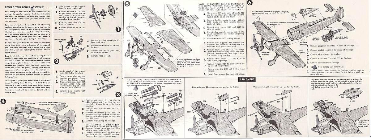 Monogram-6804-FW-190-A-11 Kit-Archäologie - heute: Die Focke Wulf FW 190 A von Monogram (# 6804)
