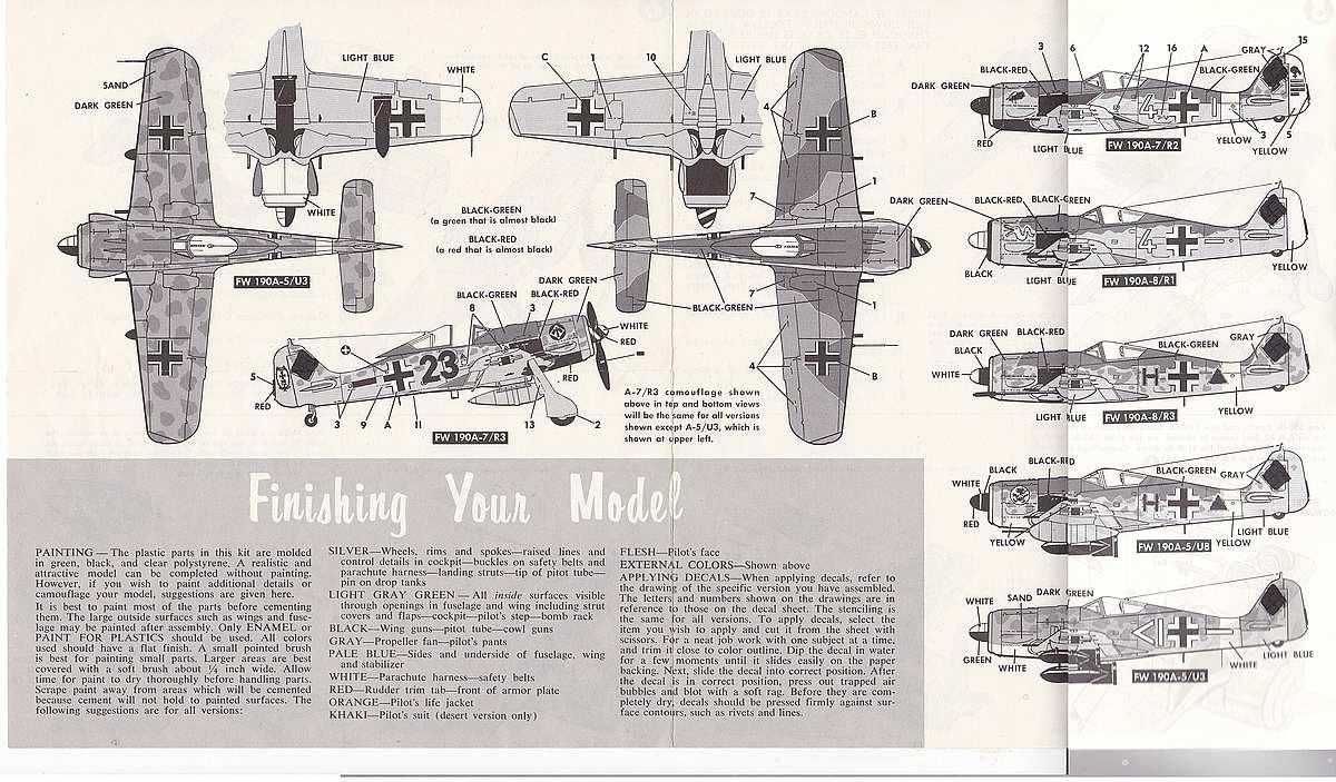Monogram-6804-FW-190-A-12 Kit-Archäologie - heute: Die Focke Wulf FW 190 A von Monogram (# 6804)