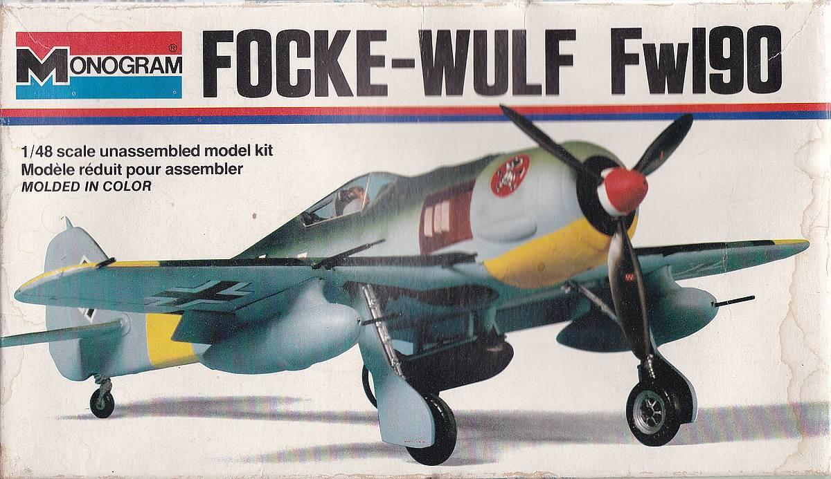 Monogram-6804-FW-190-A-4 Kit-Archäologie - heute: Die Focke Wulf FW 190 A von Monogram (# 6804)
