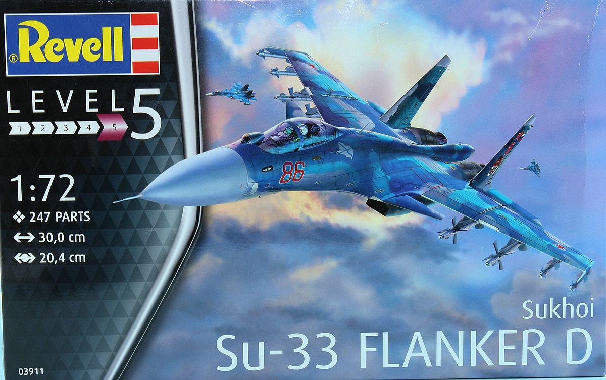 Revell-03911-Su-33-Navy-Flanker-3 Suchoi Su-33 Navy Flanker in 1:72 von Revell 03911