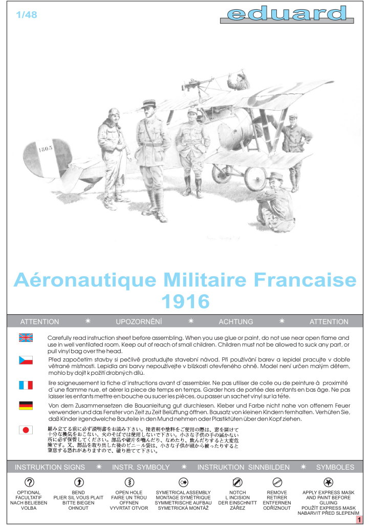 Review_Ed_Aeron.mil_.fr_.1916_12 Aéronautique Militaire Francaise 1916 (Figuren französischer Flieger WWI) - Eduard 1/48
