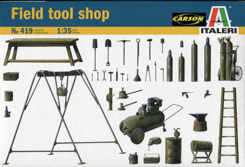 Review_Italeri_Field_Shop_01 Field tool shop  -  Italeri 1/35