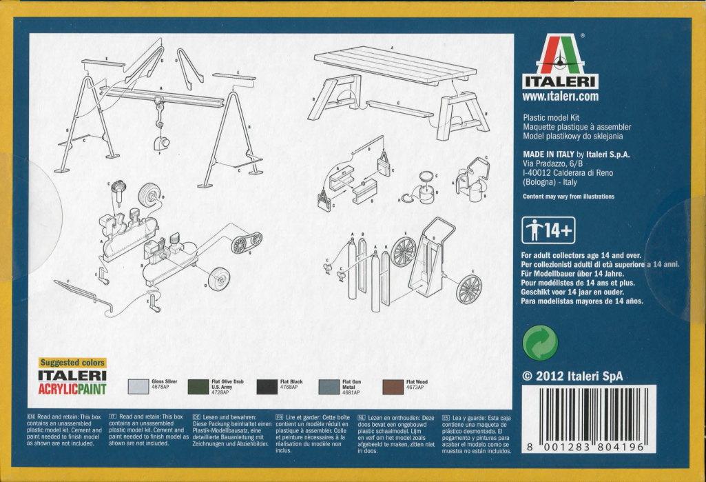 Review_Italeri_Field_Shop_02 Field tool shop  -  Italeri 1/35
