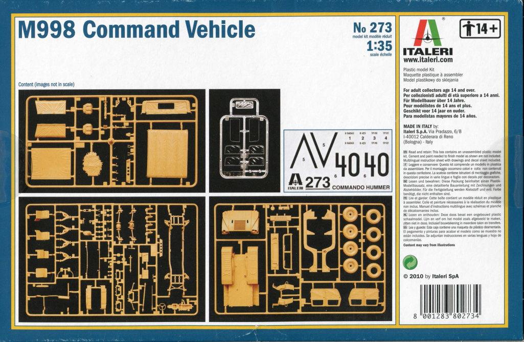 Review_Italeri_M998_17 M998 Command Vehicle  -  Italeri 1/35