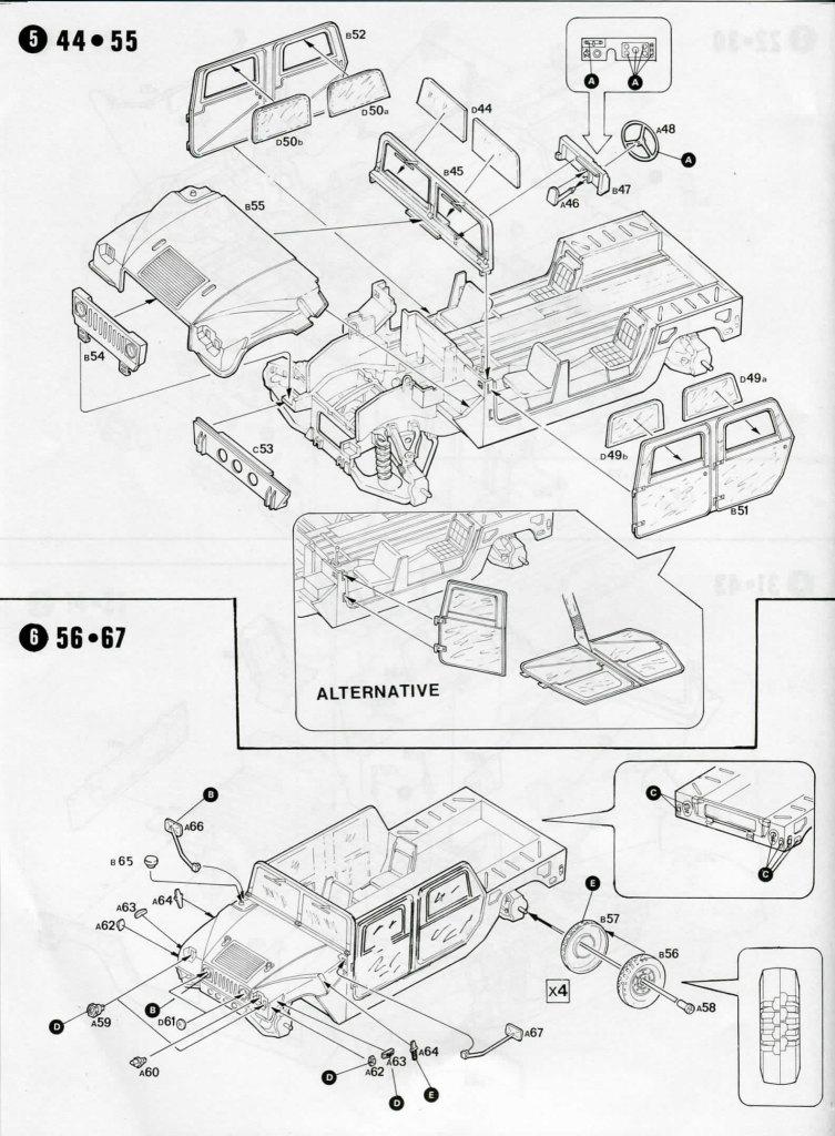 Review_Italeri_M998_24 M998 Command Vehicle  -  Italeri 1/35