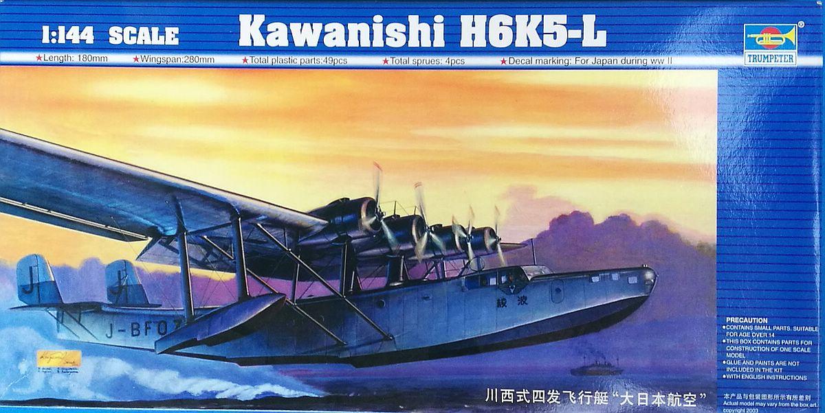 Trumpeter-01323-Kawanishi-H6K5-L-Mavis-11 Japanisches Flugboot Kawanishi H6K5-L im Maßstab 1:144 von Trumpeter