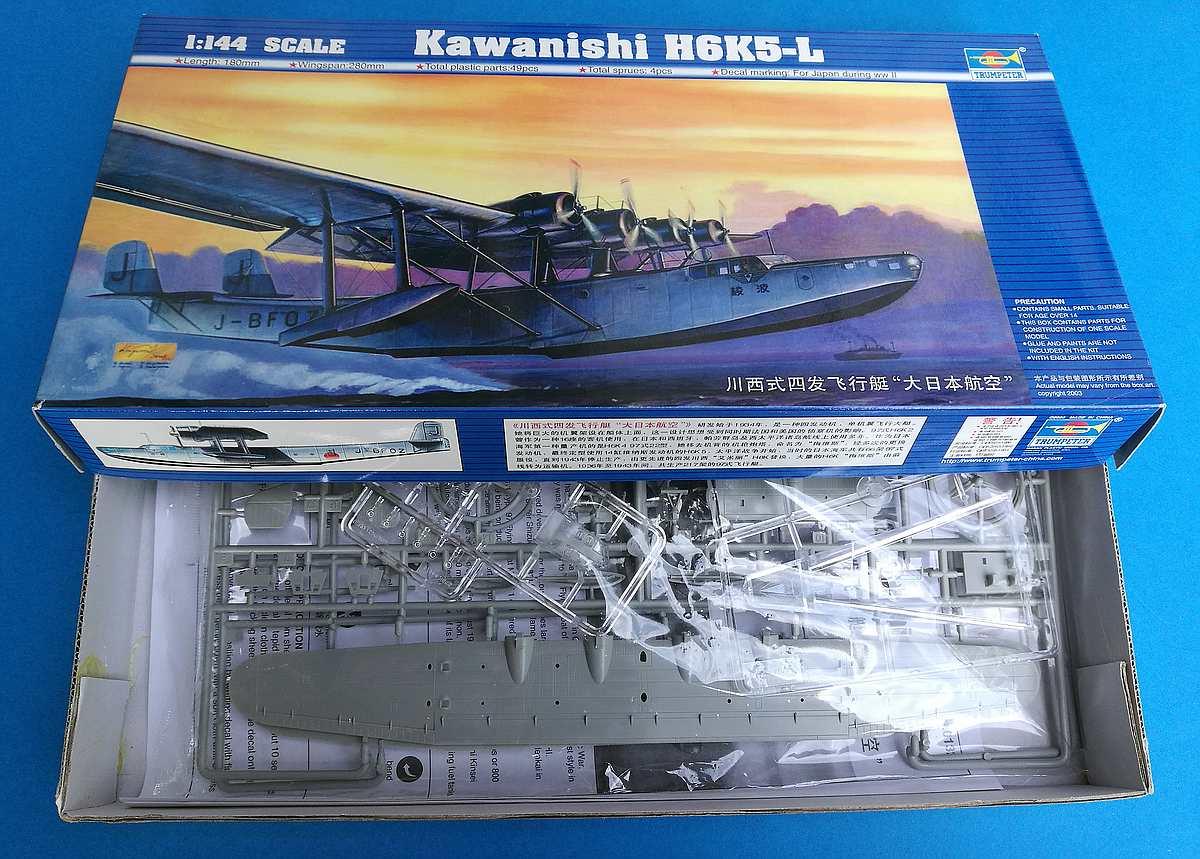 Trumpeter-01323-Kawanishi-H6K5-L-Mavis-20 Japanisches Flugboot Kawanishi H6K5-L im Maßstab 1:144 von Trumpeter