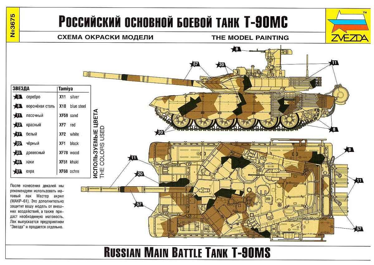 Zvezda-3675-T-90-MS-bauanleitung-13 Russian MBT T-90 MS im Maßstab 1:35 von Zvezda 3675