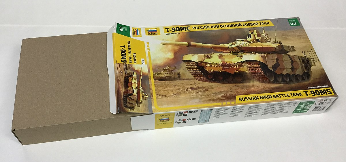 Zvezda-3675-T-90MS-Box-2 Russian MBT T-90 MS im Maßstab 1:35 von Zvezda 3675
