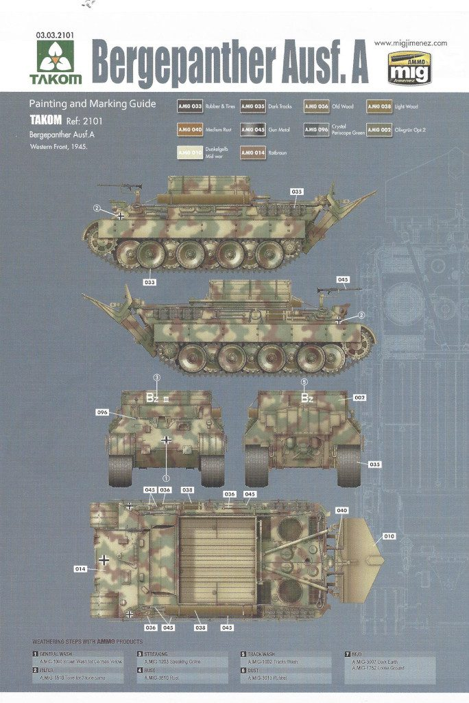 32-684x1024 Bergepanther Ausf. A Assembled by Demag 1:35 Takom (#2101)