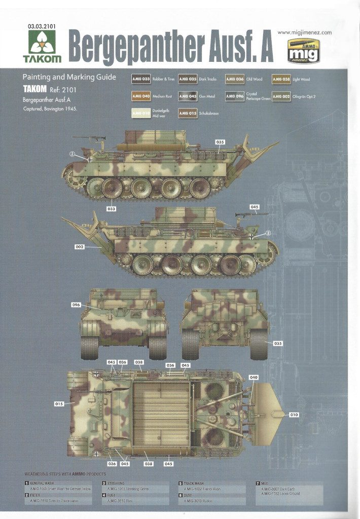 33-710x1024 Bergepanther Ausf. A Assembled by Demag 1:35 Takom (#2101)