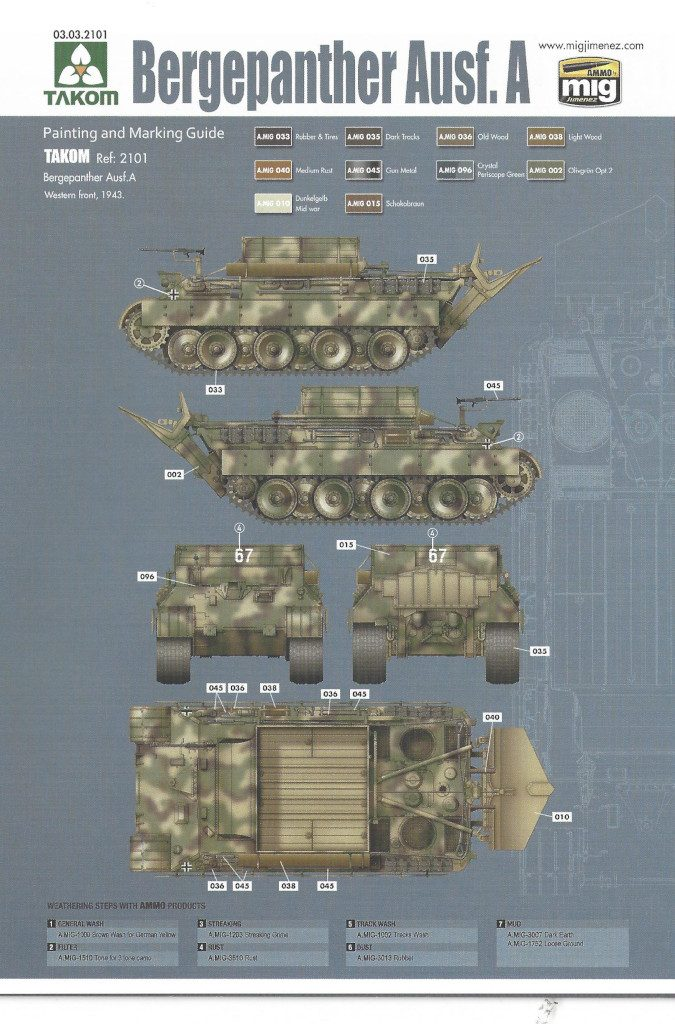 35-675x1024 Bergepanther Ausf. A Assembled by Demag 1:35 Takom (#2101)