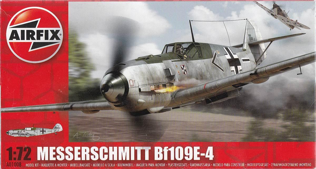 Airfix-A01008-Messerschmitt-Bf-109E-4-10 Messerschmitt Bf 109 E-4 in 1:72 von Airfix A01008